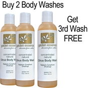 Citrus Body Wash  - 2 Pack/Get 3rd Wash FREE hcg oil free body wash, hcg diet skin care