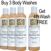 Citrus Body Wash  - 3 Pack/Get 4th Wash FREE hcg oil free body wash, hcg diet skin care