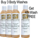 Citrus Body Wash  - 3 Pack/Get 4th Wash FREE - GE-WSH-3-FREE-WSH